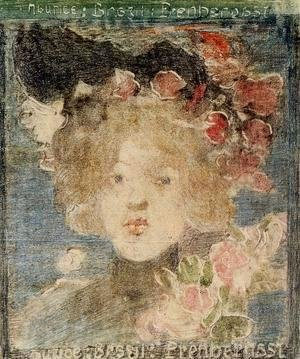 Head Of A Girl (with Roses)