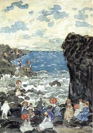 Maurice Brazil Prendergast - Holiday  Headlands