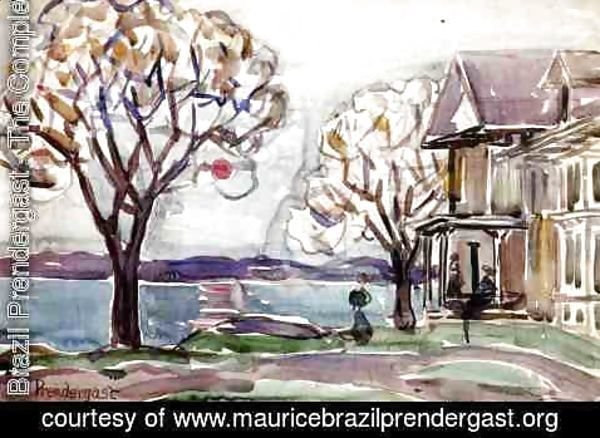 Maurice Brazil Prendergast - House By The Sea