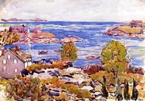 Maurice Brazil Prendergast - House With Flag In The Cove