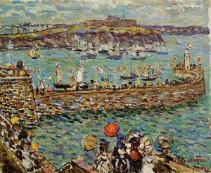 Maurice Brazil Prendergast - Ighthouse At St  Malo