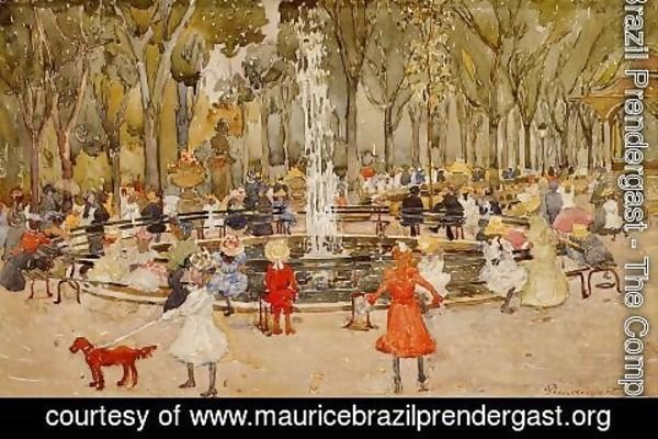 Maurice Brazil Prendergast - In Central Park  New York