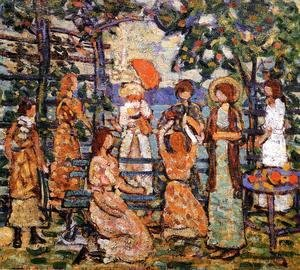 Maurice Brazil Prendergast - Ladies In A Seaside Arbor