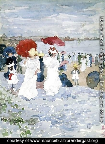 Maurice Brazil Prendergast - Ladies With Parasols
