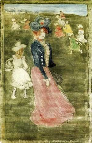 Maurice Brazil Prendergast - Lady In A Pink Skirt