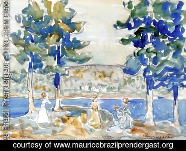 Maurice Brazil Prendergast - Lake  New Hampshire