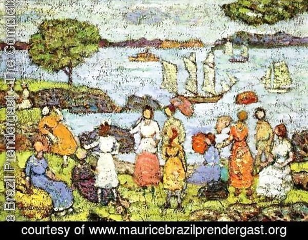Maurice Brazil Prendergast - Late Afternoon  New England