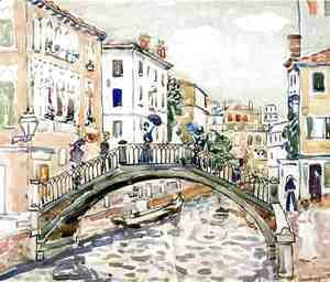 Maurice Brazil Prendergast - Little Bridge  Venice