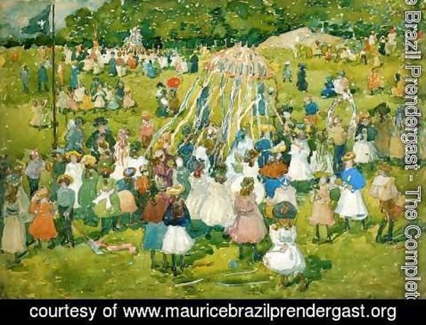 Maurice Brazil Prendergast - May Day  Central Park2