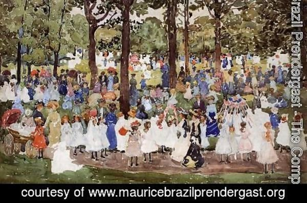 Maurice Brazil Prendergast - May Day  Central Park Aka Central Park Or Children In The Park