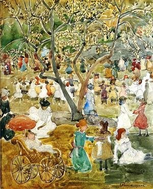 Maurice Brazil Prendergast - May Party Aka May Day  Central Park