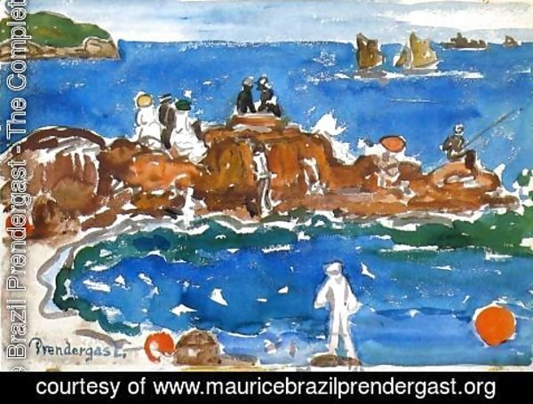 Maurice Brazil Prendergast - North Shore 3  Massachusetts