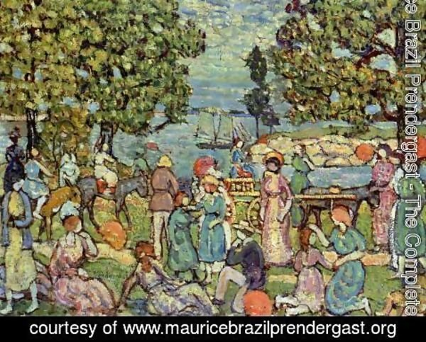 Maurice Brazil Prendergast - On The Beach No  3