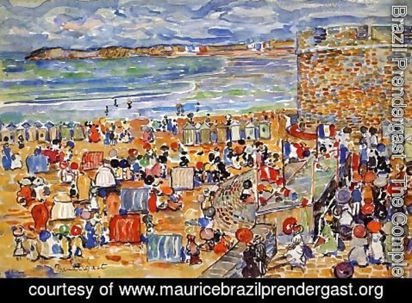 Maurice Brazil Prendergast - On The Beach  St  Malo