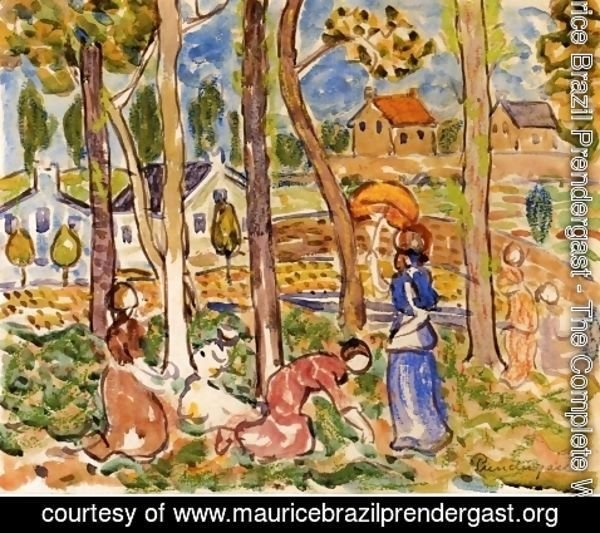 Maurice Brazil Prendergast - Picking Strawberries