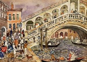 Maurice Brazil Prendergast - Rialto Bridge Aka The Rialto Bridge  Venice