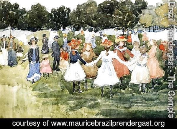 Maurice Brazil Prendergast - Ring Around The Rosy