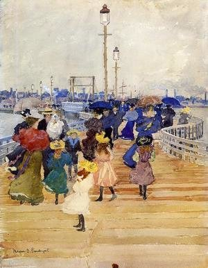 Maurice Brazil Prendergast - South Boston Pier Aka Atlantic City Pier