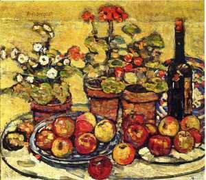 Maurice Brazil Prendergast - Still Life   Fruit And Flowers