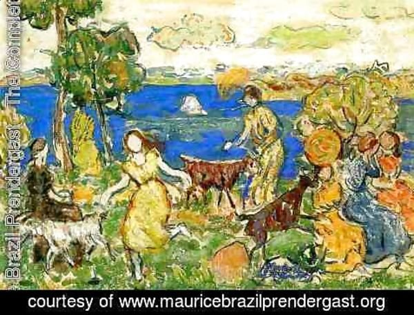 Maurice Brazil Prendergast - Summer Day Aka St  Cloud