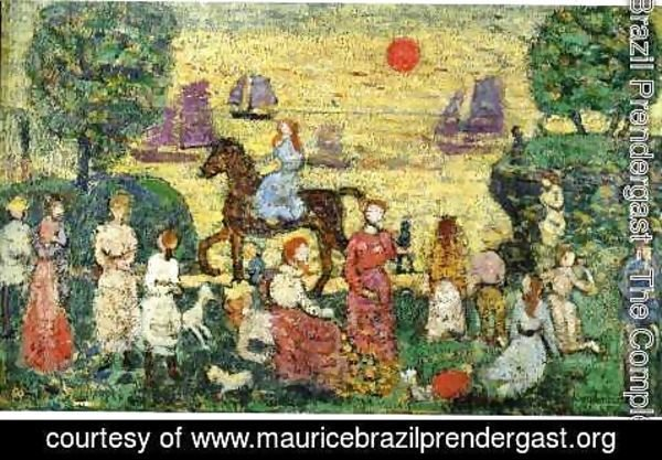 Maurice Brazil Prendergast - Sunset And Sea Fog