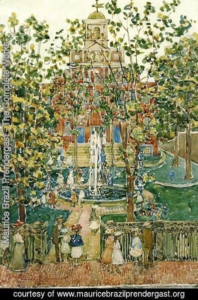 Maurice Brazil Prendergast - The Bartol Church Aka The Fountain