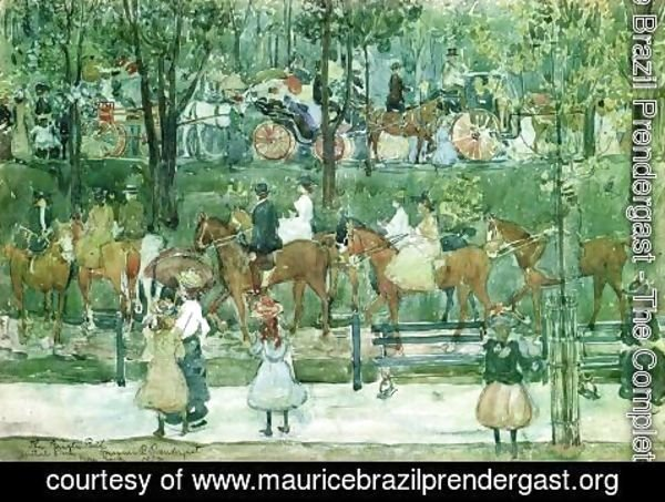 Maurice Brazil Prendergast - The Bridle Path  Central Park