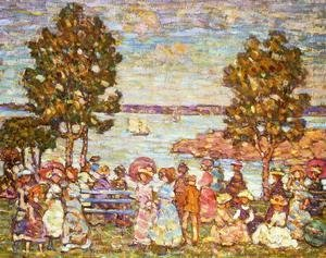 Maurice Brazil Prendergast - The Holiday Aka Figures By The Sea Or Promenade By The Sea