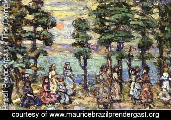 Maurice Brazil Prendergast - The Park At Sunset