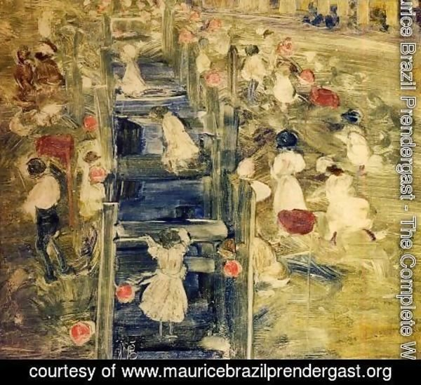 Maurice Brazil Prendergast - The Race