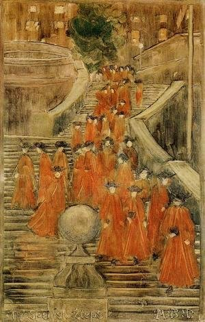 Maurice Brazil Prendergast - The Spanish Steps