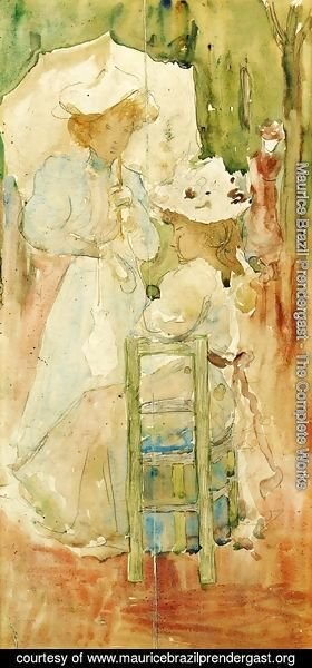 Maurice Brazil Prendergast - Two Women In A Park
