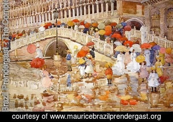 Maurice Brazil Prendergast - Umbrellas In The Rain