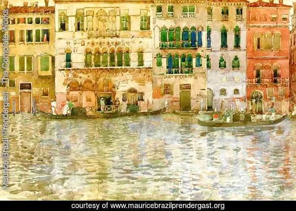 Venetian Palaces On The Grand Canal