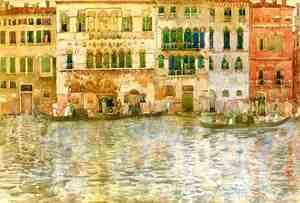 Maurice Brazil Prendergast - Venetian Palaces On The Grand Canal