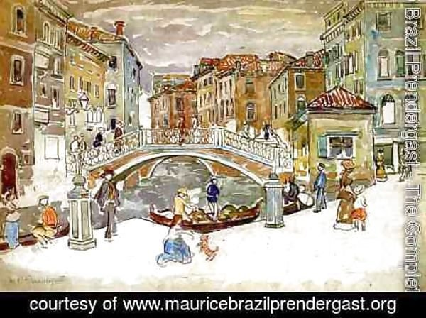 Maurice Brazil Prendergast - Venice  The Little Bridge