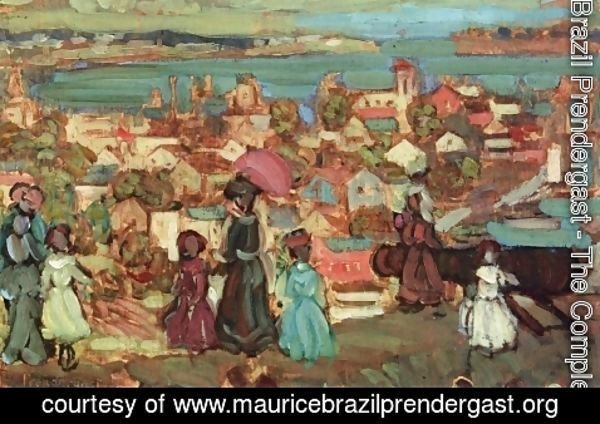 Maurice Brazil Prendergast - Village By The Sea