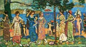 Maurice Brazil Prendergast - Women At Seashore